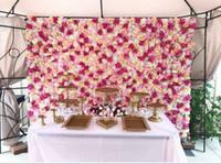 Wholesale Cheap Silk Wedding Party Flowers - JR0108 Free Shipping Hot Sale Cheap Christams  Festive Party  Wedding Stage Artificial Befutiful Silk Flower Wall Backdrop Decorative Flower