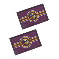Wholesale Vikings Flag - 30 PCS Viking Flag Morale Patch Emblem Tactical Hook & Loop Army Embroidery Badge Morale Embroidered Patch Appliques Wholesale free ship