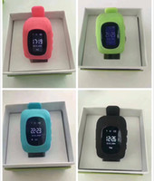 Wholesale Emergency Call - Hot Q50 Kids Smart Watch GPS Tracker SOS Emergency Anti Lost Bracelet Smart Wristbands Smart Phone App Wearable Devices Finder OLED