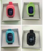 Wholesale Emergency Calling - Hot Q50 Kids Smart Watch GPS Tracker SOS Emergency Anti Lost Bracelet Smart Wristbands Smart Phone App Wearable Devices Finder OLED