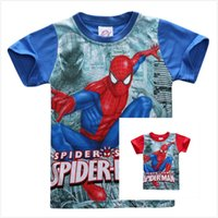 Neue Sommer Jungen Spider Man T-shirts Kinder Baumwolle Kurzarm Erstaunliche Spider-man Muster Tees Kinder Cartoon Design Tops Shirts Für 1-8 T