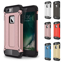 Shockproof Armor Hybrid Case Military 3 en 1 PC + TPU Combo Cover pour Samsung Galaxy S7 S7 edge et Iphone 7 / 7Plus