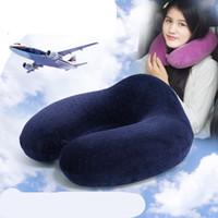Wholesale Memory Foam Travel Pillow Neck - New memory U shape pillow travel pillow upgrade memory foam pillow massager slow rebound memory sponge zero press Cervical