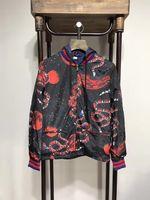 Wholesale Overcoat Men S - 2017 brand Autumn winter Men's Jackets Fashion Coats Male Casual Slim Space snake printing stitching waterproof Jacket Men Overcoat