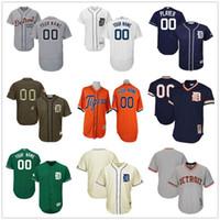 Wholesale Kids Shirt Tiger - Customized Detroit Tigers Jersey Shirt Men Women Youth Kids Custom Any Name Number Top Stitched Personalized 2017 Flex Base Baseball Jerseys