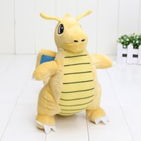 Brinquedo de peluches de 22 cm Dragonite Cute Collectible Soft Charizard Boneca de animais de pelúcia Presentes de Natal no saco de opp EMS
