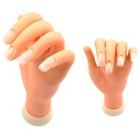 модель пластиковый гвоздь оптовых-Гибкий мягкий пластик Flectional манекен модель живопись практика инструмент Nail Art поддельные руки для обучения