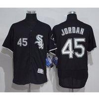 Wholesale Michael New - 2017 New Men's Chicago White Sox 45 Michael Jersey White Black Gray Men's Throwback FlexBase Elite J ordan Baseball Jerseys M-XXXL