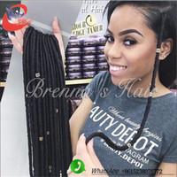 Wholesale Kanekalon 33 - Finest quality crochet braids synthetic hair for black women soft faux locs kanekalon synthetic braiding hair havana mambo faux locs crochet