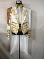 Wholesale Sequin Laciness - Fashion New Men Plus Size White Tuxedo Long Slim Jacket Magic Garbage Royal Marriage Male Singer Stage Performance Laciness Formal Dress