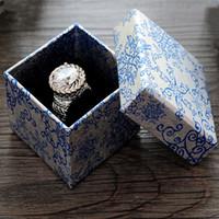 Wholesale European Fashion Style Ring - 5 * 5 * 3.8 CM Jewelry Box Fashion European-style Ring Earrings Box