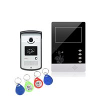 Wholesale Video Intercom Id - XSL-V43D11-ID wired video doorbell 4.3 inch TFT color screen and intercom alloy camera with unlock by ID key max 500 ID keys