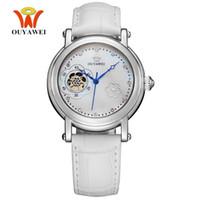 Wholesale Watch Female Mechanical - Hot Sale OYW Automatic Self Wind Female Mechanical Wristwatches Luxury Brand Watch Leather Band Fashion Elegant Lady Woman Watch