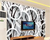 murale classique rose achat en gros de-Top Classic 3D European Style Branch silhouette 3d anneau de mode fond mural photo photo papier peint