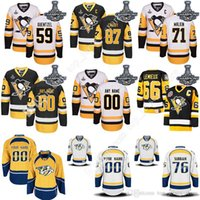 Wholesale 2017 Stanley Cup Champions Pittsburgh Penguins Hockey Jerseys Jake Guentzel Sidney Crosby Evgeni Malkin Mario Lemieux PK Subban jersey Cheap