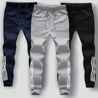 Wholesale Cheap Harems - Wholesale- 2017 New Men Straight Pants Harem Teenage Boy Trousers Male Casual Cotton Cheap Pants Trousers Student Joggings Pant Homme 90198