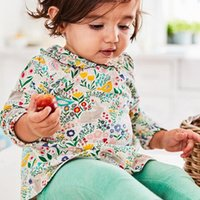 Wholesale Pet Sets - NEW ARRIVAL Little Maven girs Kids 100%Cotton Long Sleeve pet pan collar flower print girl's set causal spring autumn girl set t shirt+ pant