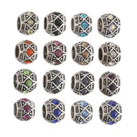 Wholesale Wholesale Fused Glass Plates - New Multicolor New Resin Rhinestone Shamballa Bead Silver Plated Core Crystal Loose Necklace Beads Fit Braceles