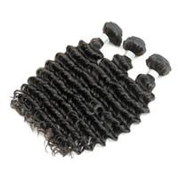derin dalga bakire saç defterleri toptan satış-6 adet Toptan Derin Dalga Kıvırcık Saç Örgü Doğal Kahverengi 8A Işlenmemiş Brezilyalı Perulu Kamboçyalı Malezya Ham Bakire Hint Insan Saçı