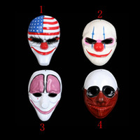 Halloween Mask Doday Game Payday 2 Маска Хейст Даллас Волк Цепочки Hoxton Cosplay Хэллоуин Ужас Бензопила Клоун маски Маскарад