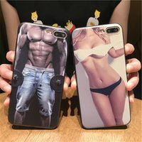 Wholesale Iphone Sex - 2017 Luxury Printing Muscle Men Sexy Women Sex Bra Mobile Phone Cases For iPhone6 6S Silicone Plastic Back Covers For iPhone6 Coque