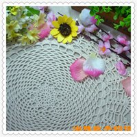 "Wholesale Crochet Flower Decoration - Wholesale- 14"" round doilies 2016 wholesale china latest products cotton crochet lace coaster for wedding decoration cutout flower for home"