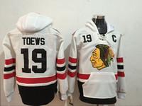 Wholesale Hockey Hooded Sweatshirts - 2017 New Arrivals NHL Mens Chicago Blackhawks #19 Jonathan Toews White 2017 Winter Classic Hooded Pullover Stitched Sweatshirt Hoodie Lymmia