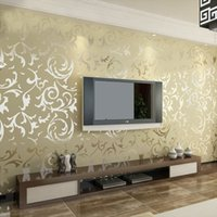 Luxus Vlies Wallpaper Hintergrund Wall Wallpaper Classic Wallpapers Wohnkultur Für Wohnzimmer Embossed Damask