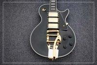ingrosso chitarra un pezzo nero collo-Grande Chitarra Chitarra Custom Black 3 Pickups Chitarra elettrica One Piece Neck Chitarre Chitarre all'ingrosso di fabbrica
