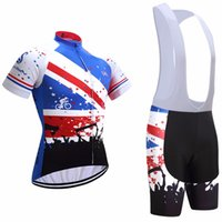 Wholesale Cycling Jerseys Uk - 2017 UK Cycling Jerseys bib shorts set Bicycle Breathable sport wear cycling clothes Bicycle Clothing Lycra summer MTB Bike