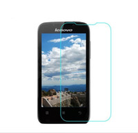 Wholesale Lenovo A369 - Wholesale-HD clear High Quality premium Tempered Glass ultra thin 0.26mm screen protector For Lenovo A369 A369i +free shipping