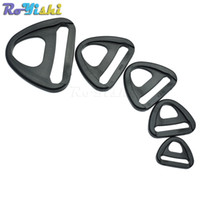 Wholesale plastic strap clip - 50pcs lot Plastic Adjuster with bar Swivel Clip D-Ring Loop Insert Buckle Backpack Straps