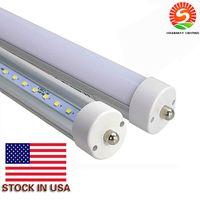 Wholesale 192 Led Cree - US Stock In + LED Tube Lights 8ft Single Pin FA8 T8 LED Tubes 45W 4800LM 192 leds AC85-265V SMD2835 LED Fluorescent light fixtures