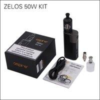 Wholesale Anodized Aluminum Kits - 100% Original Aspire Zelos 50W Kit with 2500mAh Zelos 50W MOD & 2ml Nautilus 2 Tank Anodized Aluminum material