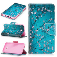 Wholesale Leather Deer Wallet - Don't touch my phone Wallet Leather Case For Samsung GALAXY J3 2017 A7 A5 A3 LG V20 Huawei Honor 6X Mate 9 Flower Deer Bear Card Stand Cover