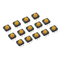 Wholesale Microswitch Tact Switch - 10pcs 12*12*7.3mm Keyswitch Tact Momentary Microswitch Button Switch B00462