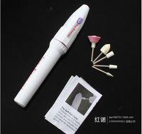 elektrikli tırnak bakım seti toptan satış-Profesyonel Elektrikli Manikür Nail Art Dosya Matkap, Art Salon Manikür Kalem Aracı, 5 bit / Set Lehçe Ayak Bakım Ürünü