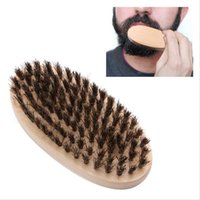 Wholesale Round Wood Handle - The Wild Boar Bristle Brush Brush Elliptic Beard for Men Were Men Boar Hair Brush Beard Mustache Military Round Wood Handle Bristles