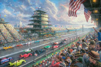 speedway motors - Indy Excitement Years of Racing atIndianapolis Motor Speedway Thomas Kinkade Oil Paintings Art Wall Modern HD Print On Canvas Decoration