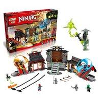 Wholesale Ninja Minifigure - 723 Unids Ninja Airjitzu Campos de Batalla Kits de Edificio Modelo Bloques Minifigure Juguete Ladrillo Compatible 70590