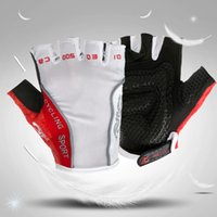 Wholesale Motorcycle Half Finger Gloves - Breathable Gloves Half Finger bicycle gloves,Racing gloves Silicone Motorcycle Cycling Gloves guantes ciclismo size M-XL