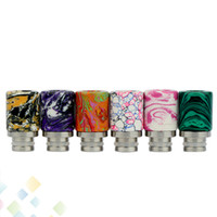 Wholesale vaporizer wide bore rda resale online - Beautiful Tophus Stone Drip Tips Turquoise Drip Tip for Vaporizer E cigarette RDA RBA Wide Bore Drip Tip DHL Free