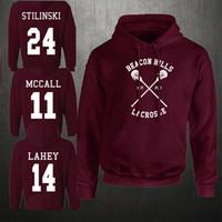 Wholesale Lacrosse Men - Wholesale- Fashion Men's Women Beacon Hills Lacrosse Hoodie Teen Wolf McCall Stilinski Lahey Unisex Sweatshirt