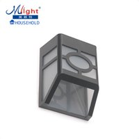 Wholesale Rechargeable Batteries Chinese - Wholesale- Outdoor LED Wall Lamp Fence Lamp Solar Powered Rechargeable Battery Garden Traditional Chinese Style Outdoor Solar Light