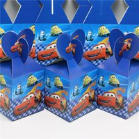 Wholesale Children Birthday Bags - Wholesale-10pcs lot candy box cars theme party loading gift loot bag decoration happy birthday party supplies child favor baby shower