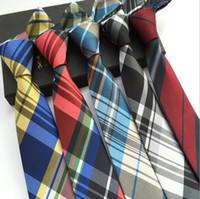 Wholesale Handmade Silk Embroider - 24 Styles 6cm Women And Men Neck Ties Delicate British Fashion Classic Grid Tie Plaid Skinny Necktie School Tie Dots