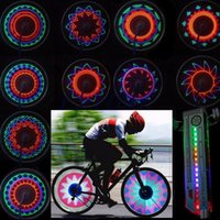 Atacado- Outdoor 16 LED Car Motorcycle Cycling MTB Bicicleta Bicicleta Tire Válvula de roda Flashing Spoke Light Cool Acessórios para bicicletas Atacado