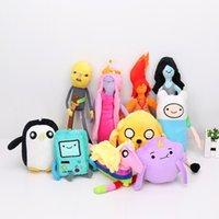 Wholesale Adventure Time Plush Jake - Adventure Time Plush Jake Finn BMO Penguin Lady Rainicorn Princess Bubblegum Marceline Plush Toy Stuffed Soft Dolls Great Gift