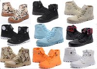 Wholesale Outdoor Fall Activities - 2017 Hot Sale! new Military boots PALLADIUM High Canvas boot Outdoor activity Dark Boots Street tide boots size 39-45 free shipping model 02