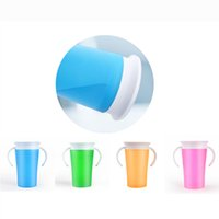 Wholesale Bite Trainer - Miracle 360 Trainer Cup Leakproof cup Silicone Child Training Cup Practice children with bite mugs dhl Shipping